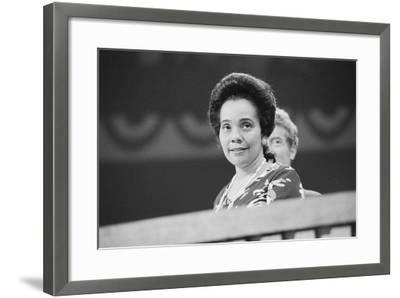 Coretta Scott King at the Democratic National Convention, NYC, 1976-Warren K^ Leffler-Framed Photographic Print