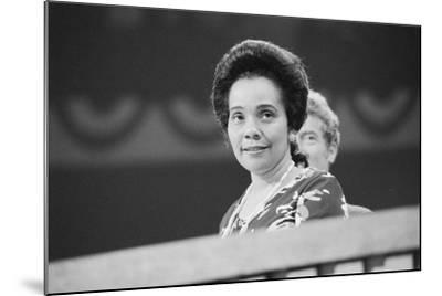 Coretta Scott King at the Democratic National Convention, NYC, 1976-Warren K^ Leffler-Mounted Photographic Print
