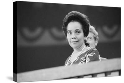 Coretta Scott King at the Democratic National Convention, NYC, 1976-Warren K^ Leffler-Stretched Canvas Print