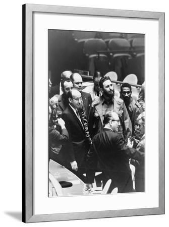 Fidel Castro at a meeting of the United Nations General Assembly, 1960-Warren K^ Leffler-Framed Photographic Print