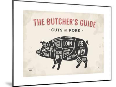 u l Q1BYJW9O1ZOP cut of meat butcher diagram pig art print by foxysgraphic art com