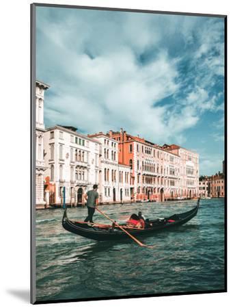 Venetian Gondolier Punts Gondola in Venice, Italy-World Image-Mounted Photographic Print