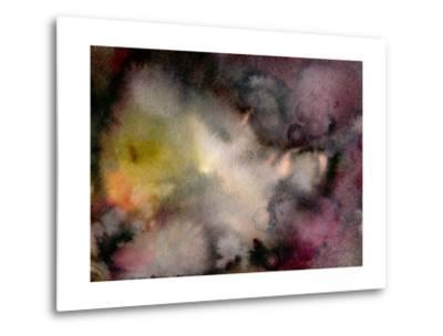 Dark Watercolor Mood-Marina Zakharova-Metal Print