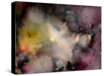 Dark Watercolor Mood-Marina Zakharova-Stretched Canvas Print