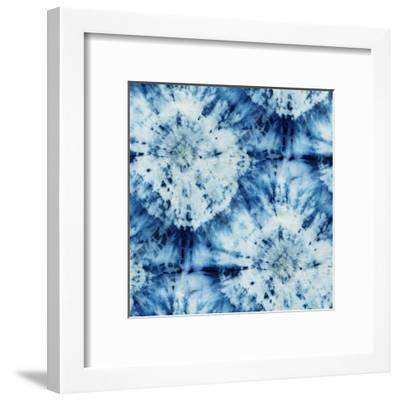Tie-Dye of Indigo Color-Marina Zakharova-Framed Art Print