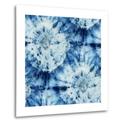 Tie-Dye of Indigo Color-Marina Zakharova-Metal Print