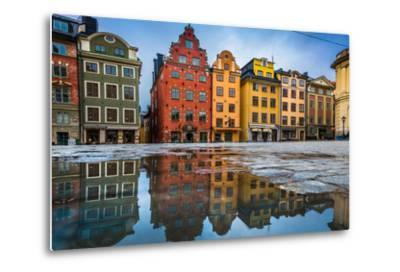 Colorful Houses in Stockholm's Gamla Stan Old Town District, Sweden-lbryan-Metal Print