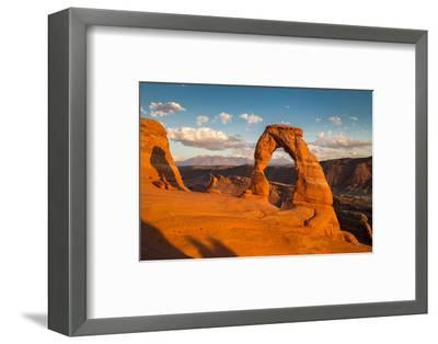 Classic View of Famous Delicate Arch at Sunset, Utah-lbryan-Framed Premium Photographic Print