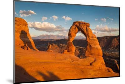 Classic View of Famous Delicate Arch at Sunset, Utah-lbryan-Mounted Premium Photographic Print