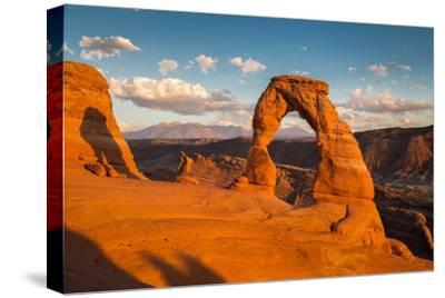 Classic View of Famous Delicate Arch at Sunset, Utah-lbryan-Stretched Canvas Print