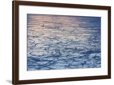 Black Ice at the Lago Bianco, Berninapass, Canton of Grisons-Armin Mathis-Framed Photographic Print