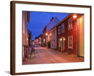 Sweden, Smaland, Old Town with Typical Wooden Houses in Eksjo, Old Towngasse-K. Schlierbach-Framed Photographic Print
