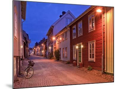 Sweden, Smaland, Old Town with Typical Wooden Houses in Eksjo, Old Towngasse-K. Schlierbach-Mounted Photographic Print