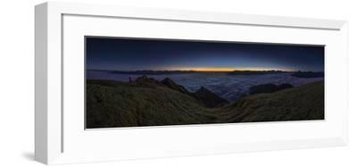 Panorama on the Nockspitze to Sunrise with Fog in the Valley-Niki Haselwanter-Framed Photographic Print