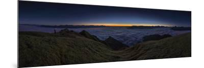 Panorama on the Nockspitze to Sunrise with Fog in the Valley-Niki Haselwanter-Mounted Photographic Print