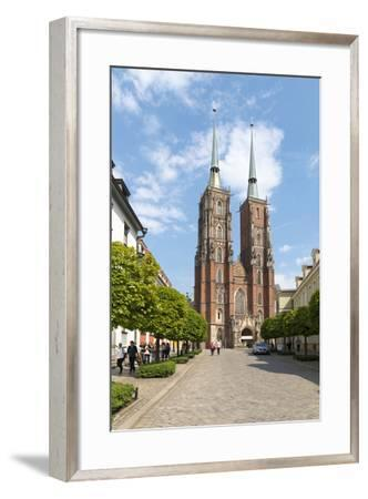 Poland, Wroclaw, Wroclaw Cathedral, Cathedral of St. John the Baptist-Roland T. Frank-Framed Photographic Print