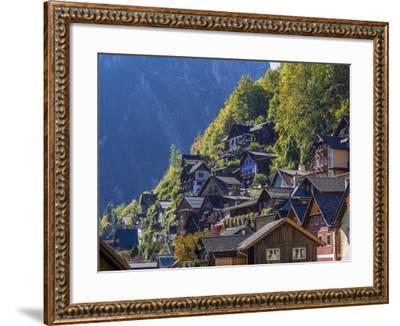 Hallstatt in the Hallstatter Lake, Austria, Europe-P. Widmann-Framed Photographic Print
