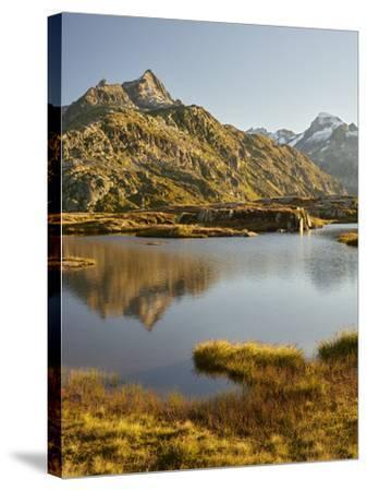Garstenhorner, Grimselpass, Urner Alps, the Bernese Oberland, Switzerland-Rainer Mirau-Stretched Canvas Print