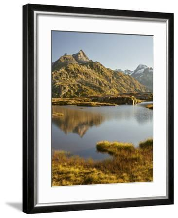 Garstenhorner, Grimselpass, Urner Alps, the Bernese Oberland, Switzerland-Rainer Mirau-Framed Photographic Print