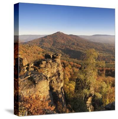 View from the Battertfelsen to the Merkus, Baden Baden, Baden-Wurttemberg, Germany-Markus Lange-Stretched Canvas Print