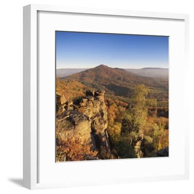 View from the Battertfelsen to the Merkus, Baden Baden, Baden-Wurttemberg, Germany-Markus Lange-Framed Photographic Print