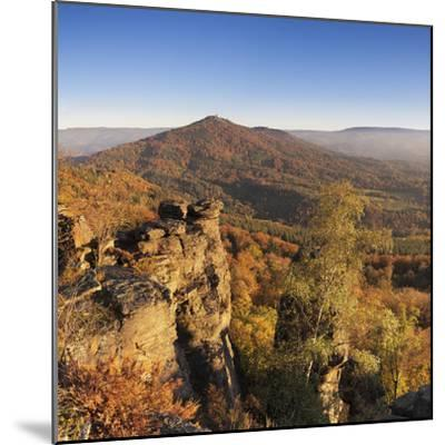 View from the Battertfelsen to the Merkus, Baden Baden, Baden-Wurttemberg, Germany-Markus Lange-Mounted Photographic Print