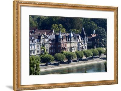 Seestrasse, Constance, Lake of Constance, Baden-Wurttemberg, Germany-Ernst Wrba-Framed Photographic Print