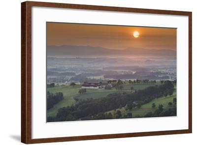 Upper Austrian Alpine Foothills Close Steyr, Farm, Austria-Rainer Mirau-Framed Photographic Print