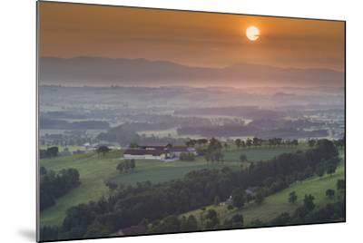 Upper Austrian Alpine Foothills Close Steyr, Farm, Austria-Rainer Mirau-Mounted Photographic Print