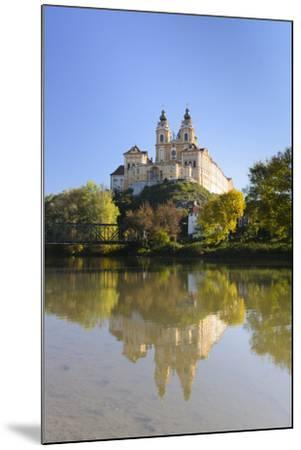 Seminary Melk and a Danube Arm, Austria, Wachau, Melk-Volker Preusser-Mounted Photographic Print