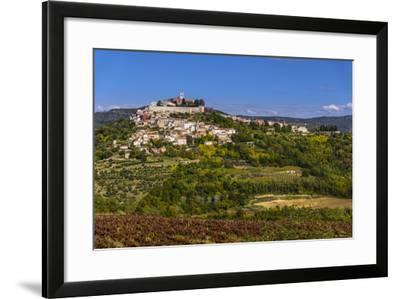 Croatia, Istria, Mirnska Dolina, Motovun, Town View-Udo Siebig-Framed Photographic Print