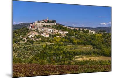 Croatia, Istria, Mirnska Dolina, Motovun, Town View-Udo Siebig-Mounted Photographic Print