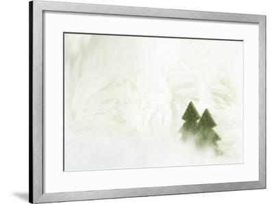 Two Christmas Trees in Stylised Winter Landscape - Softy and Softly-Petra Daisenberger-Framed Photographic Print