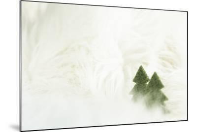 Two Christmas Trees in Stylised Winter Landscape - Softy and Softly-Petra Daisenberger-Mounted Photographic Print