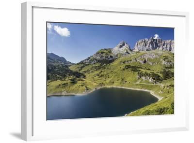 Formarinsee, Red Wall, Blue Heaven-Jurgen Ulmer-Framed Photographic Print