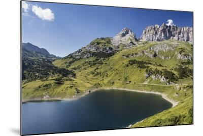 Formarinsee, Red Wall, Blue Heaven-Jurgen Ulmer-Mounted Photographic Print