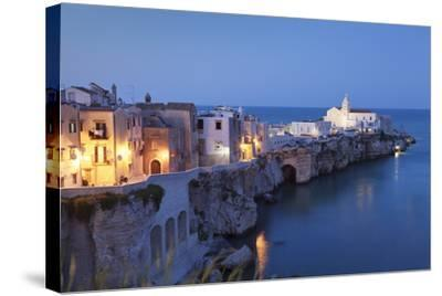 Headland Punta San Francesco and Vieste, Gargano, Province of Foggia, Apulia, Italy-Markus Lange-Stretched Canvas Print