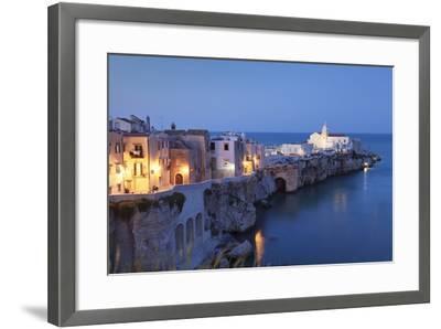 Headland Punta San Francesco and Vieste, Gargano, Province of Foggia, Apulia, Italy-Markus Lange-Framed Photographic Print