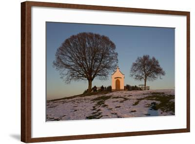 Chapel with Tree and Bench-Jurgen Ulmer-Framed Photographic Print