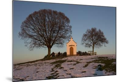 Chapel with Tree and Bench-Jurgen Ulmer-Mounted Photographic Print