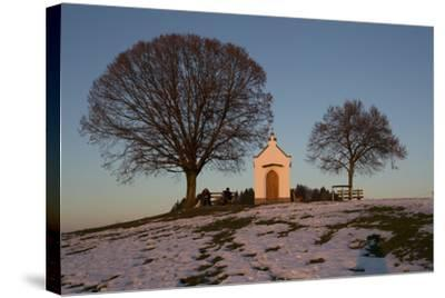 Chapel with Tree and Bench-Jurgen Ulmer-Stretched Canvas Print