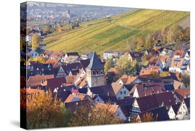 Strumpfelbach with Vineyards in Autumn, Baden Wurttemberg, Germany-Markus Lange-Stretched Canvas Print