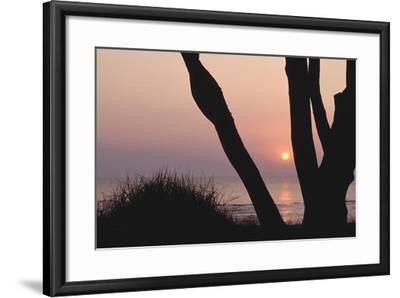 Sunset in Front of the Western Beach of Darss-Uwe Steffens-Framed Photographic Print
