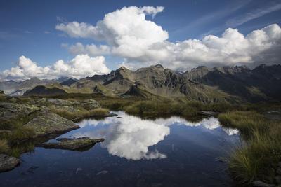 Clouds, Mirroring, Mountain Lake, Blue Heaven-Jurgen Ulmer-Framed Photographic Print