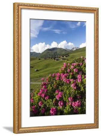 Walser Village in the Swiss Canton of Grisons-Armin Mathis-Framed Photographic Print
