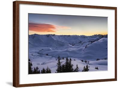 Sundown, Sunser Alp, Valley, Snow-Jurgen Ulmer-Framed Photographic Print