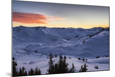 Sundown, Sunser Alp, Valley, Snow-Jurgen Ulmer-Mounted Photographic Print