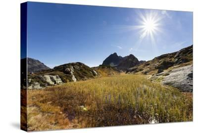 Moorsee in Front of Ballunspitze-Jurgen Ulmer-Stretched Canvas Print