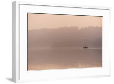 Angler in the Fog-Benjamin Engler-Framed Photographic Print