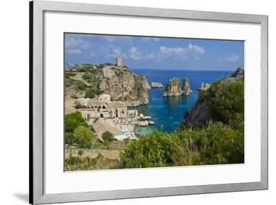 Italy, Sicily, Tonnara Di Scopello, Tuna Bay-Udo Bernhart-Framed Photographic Print